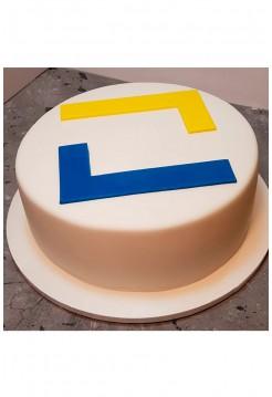 Корпоративный Торт с Логотипом из сахарной пасты