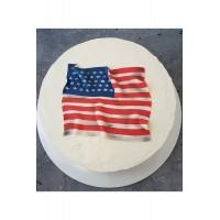 Корпоративный Торт с Аппликацией из сахарной пасты