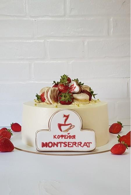 """Корпоративный Торт """"MONTSERRAT"""" с Пряничным логотипом"""