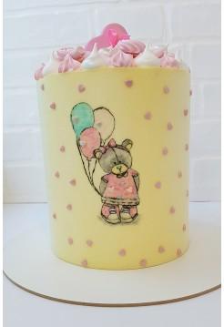 """Детский Торт """"Мишки Тедди"""" (девочка)"""