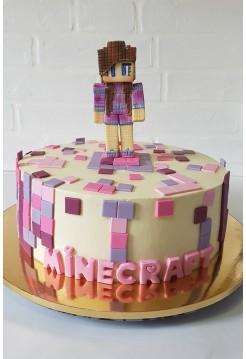"""Детский Торт """"Minecraft"""" для девочки"""