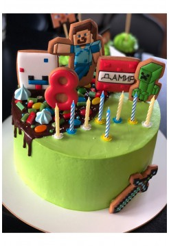 """Детский Торт """"Minecraft"""" для мальчика"""