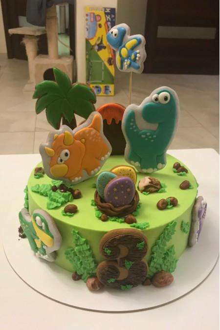 "Детский Торт ""Динозаврики"""