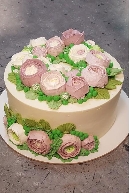 """Торт """"Кремовые Цветы"""""""