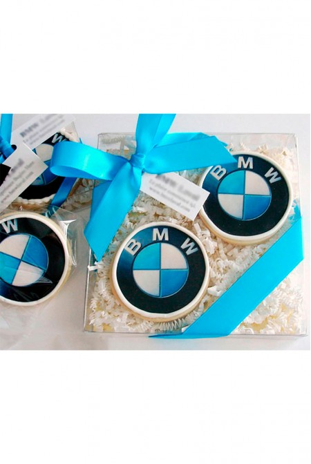Корпоративное Печенье с логотипом BMW
