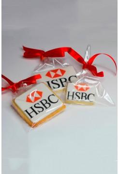 """Корпоративное Печенье с фотопечатью """"HSBC"""""""