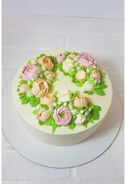 """Торт """"Венок из Цветов"""""""