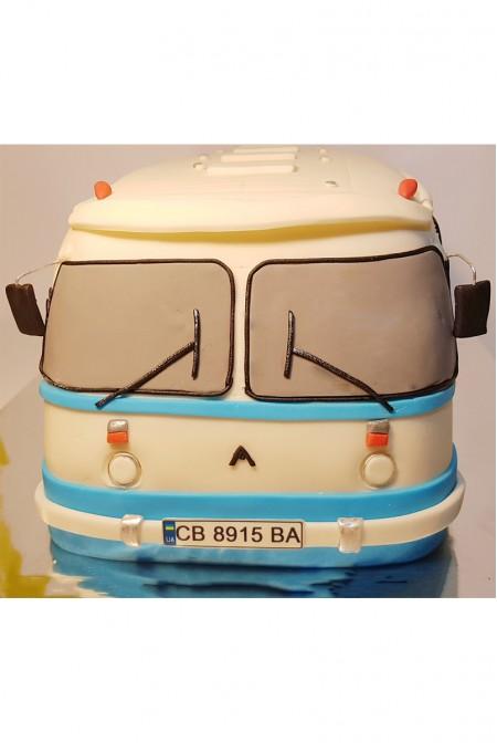 "Торт ""Автобус ЛАЗ"""