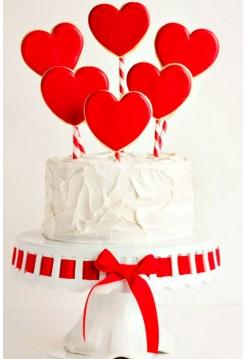 Торт с Пряничными Валентинками