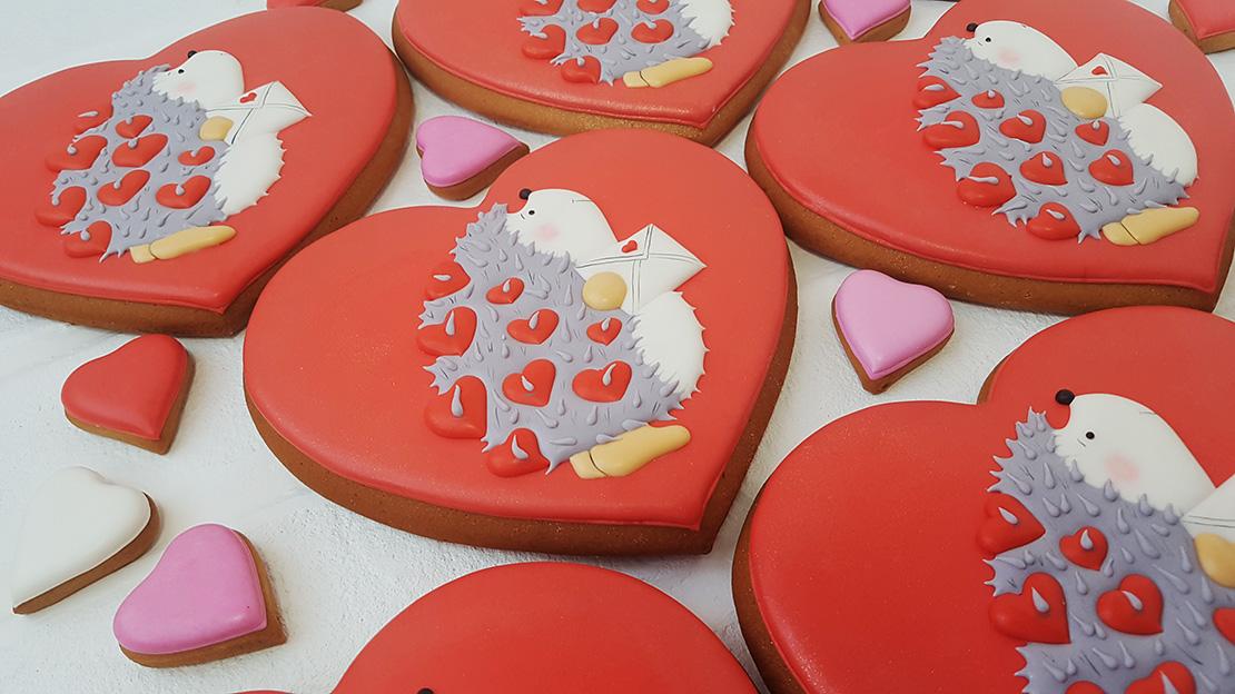 Пряники на День Святого Валентина на заказ в Киеве