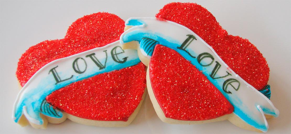 Купить Печенье на День Святого Валентина в Киеве с доставкой