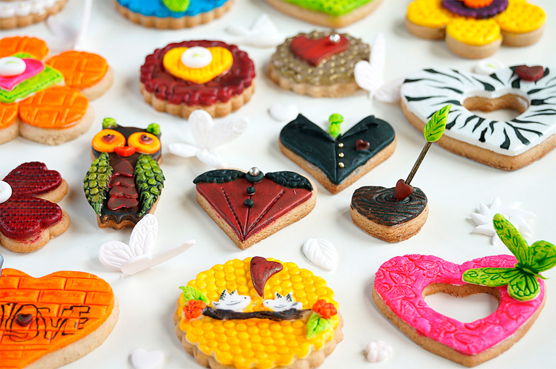 Заказать Печенье на День Святого Валентина. Доставка по Киеву