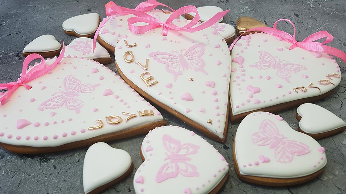 Купить Имбирные Пряники на День Святого Валентина с доставкой по Киеву и Украине