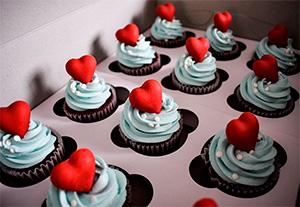 Капкейки на День Святого Валентина на заказ